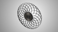 stylish wall clock 3d 3ds