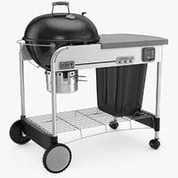 weber grill charcoal gbs 3d model