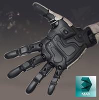 3d max robot hand