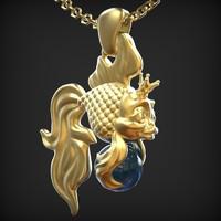 3d goldfish pendant model