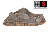 volcanic stone 8k obj