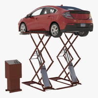 Automotive Scissor Lift Generic and Hybrid Car