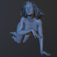 zbrush posed female 2 3d obj