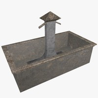 3d rectangular fountain