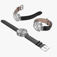 huawei watch leather band 3d model