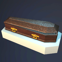 3d model wooden coffin