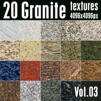 20 High Res Seamless Granite Textures Vol.03