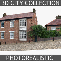 3ds max photorealistic brick house