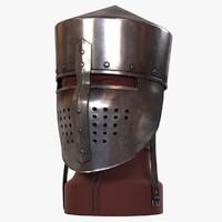 3d flat helmet medieval model