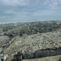 ruined city ww2 warsaw 3d max