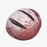 3d model brown bread