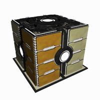 3d model - sci fi building