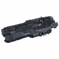 Sci Fi Large Spaceship 3 - Sci-Fi Futuristic Spacecraft Battleship Transport