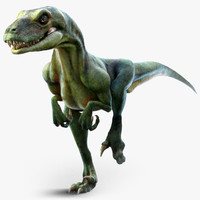 3d velociraptor animation model