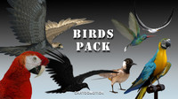 birds pack 3d max