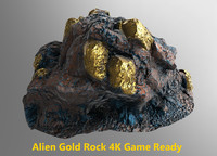 Alien Gold Rock 4K Game Ready