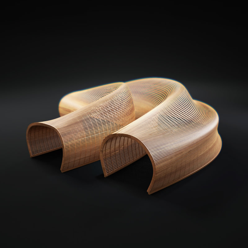 3d Model Matthias Pliessnig Wooden Sculptural Seats