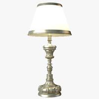 3dsmax ebanista sacristy table lamp