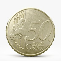3ds max fifty euro cent