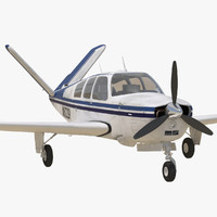 civil utility aircraft beechcraft bonanza 3d max