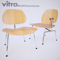 corona vitra plywood chair 3d model