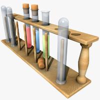 lab test tubes 3d ma