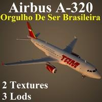 3d model airbus tam