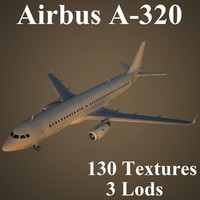 3dsmax airbus a-320 airlines