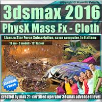 3ds max 2016 PhysX Mass Fx Cloth 1 Mese Desktop Subscription
