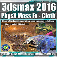 3ds max 2016 PhysX Mass Fx Cloth Subscription