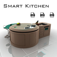 smart kitchen 3d model