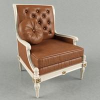 armchair taillardat 3d fbx