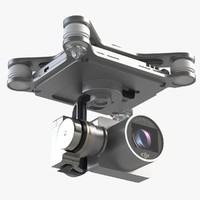 camera 4k quadrocopter phantom 3d model
