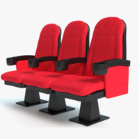 3d model movie theater seats