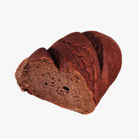 3ds max brown loaf bread