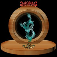 3d chinese dragon ice sculpture model