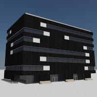 3d - modern city building