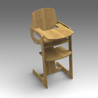 3d model of child chair