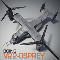 3d model v22-osprey airplane vfx