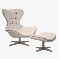 regina armchair poltrona 3d model
