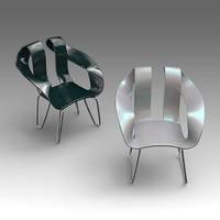plastic armchair 3d model