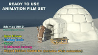 3d animation set film model