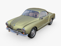 3d volkswagen karmann ghia model