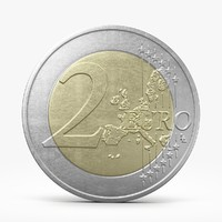 3d model of euro coin eur