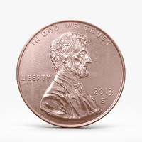 penny coin 3d max