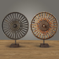 3ds max cast iron factory wheel