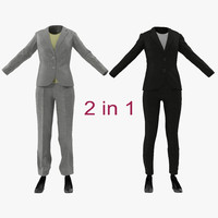 women suits 3d obj