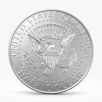 3d 50 cent coin