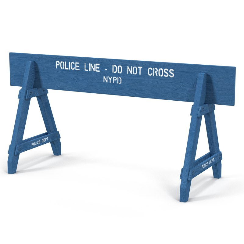 NYPD Police Crowd Barrier 3d model 01.jpg