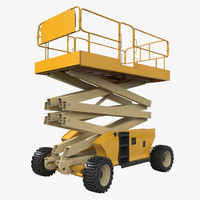 3d engine powered scissor lift